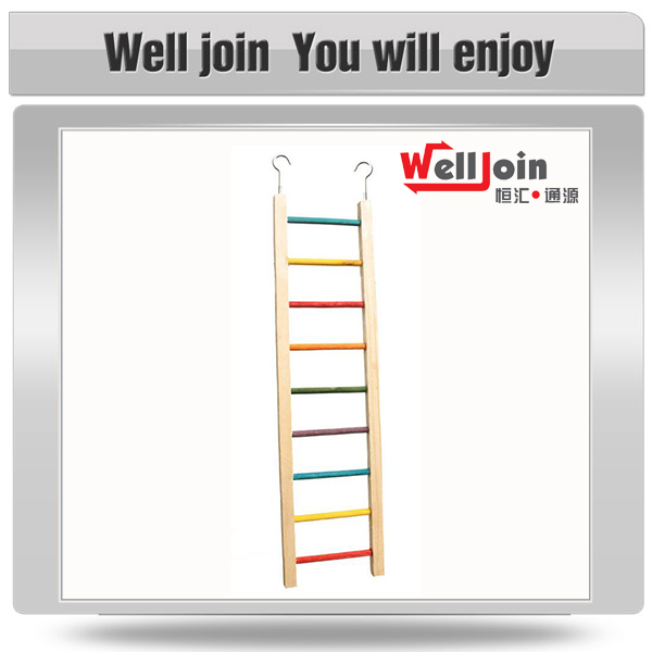 Hot selling wood parrot ladder stand