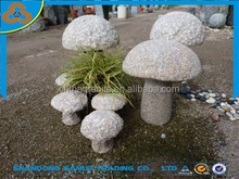 garden natural stone granite mushroom stone carving