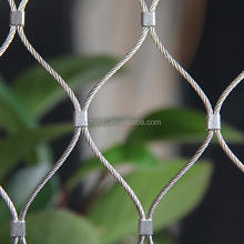 Zoo Enclosure Stainless Steel Bird Aviary Netting with ss Wire Rope Cable Mesh