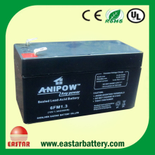 Deep cycle rechargeable sealed lead acid battery 12v1.3ah