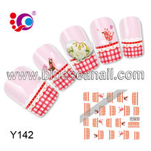 2014 new designs fashion nail ar sticker nail accessories water transfer printing foil