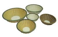 bowl shape small wicker sotrage basket for food and fruit