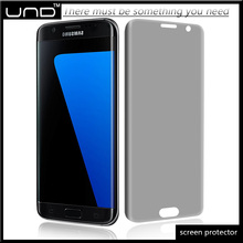Premium heating 3d curved edge anti spy privacy dark tempered glass screen protector film for Samsung Galaxy S7 edge