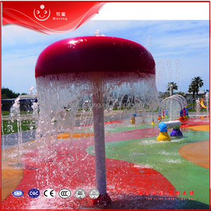 Hot Quality Water Theme Park Used Mushroom-shaped Waterfall for Kids