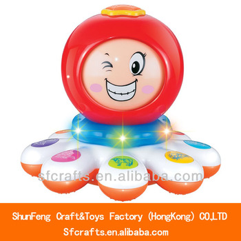 Electrical cartoon octopus learning machine toy