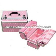 Aluminum cosmetic pouch/case/box