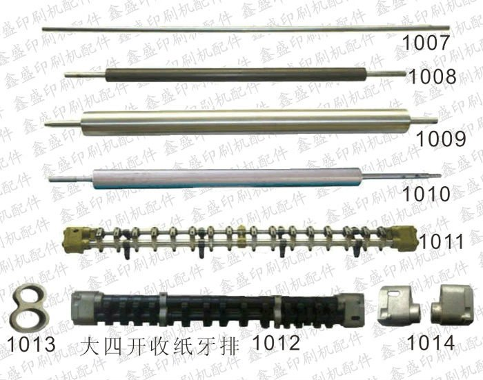 Rubber roller, roller, gripper bar for Roland printing machine