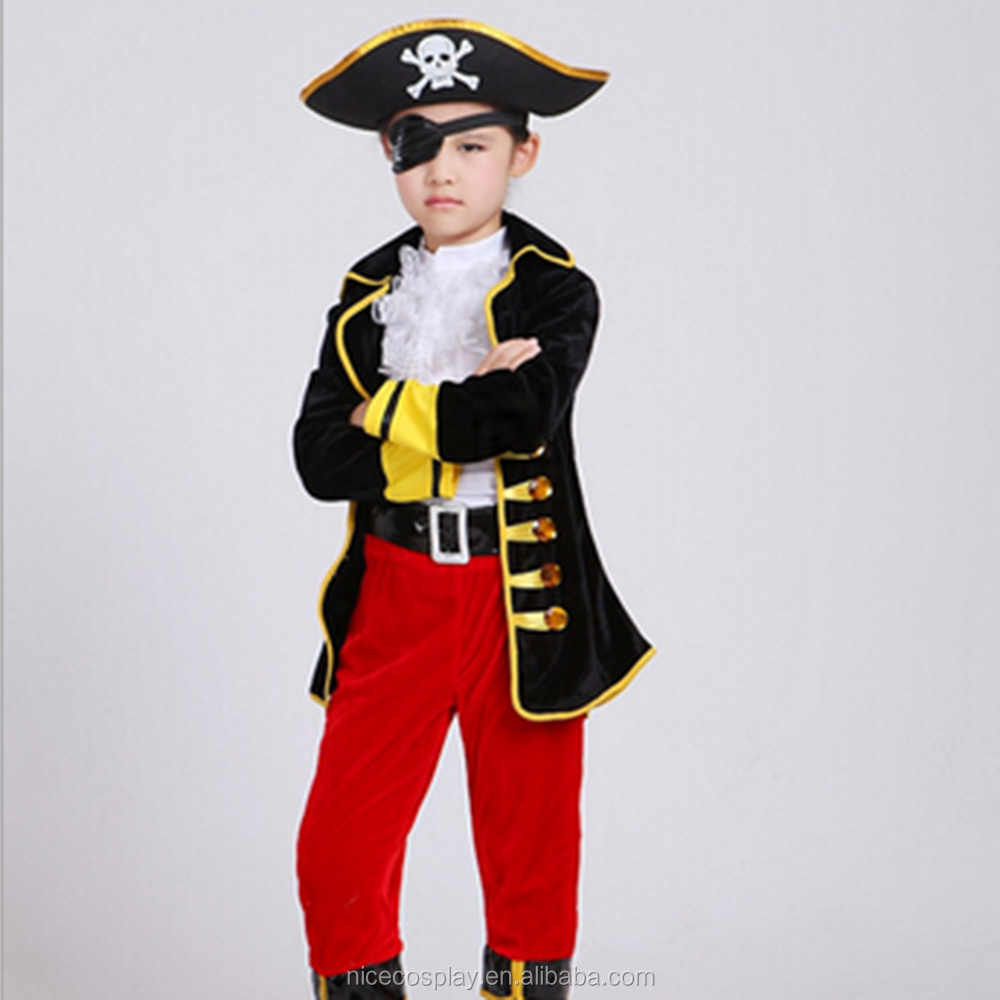Cartoon Costumes Halloween Children's Clothing Cos One-eyed Pirate Wholesale