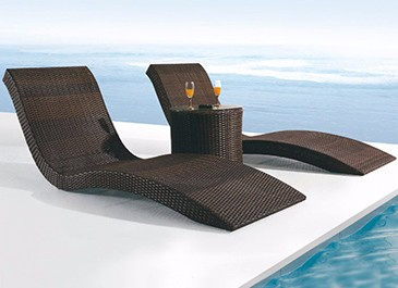 Latest design outdoor sun lounger furniture lightweight beach day beds