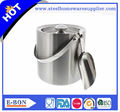 China high qualityStainless Steel brushed Double Walled Ice cooler Bucket with ice Scoop