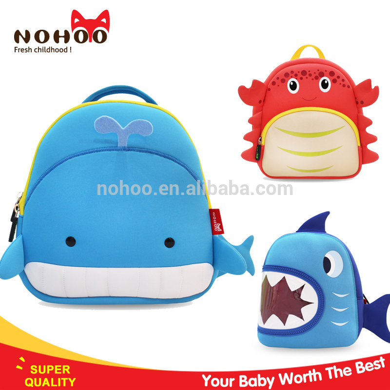 nohoo 2016 china factory kids cartoon picture of school bag