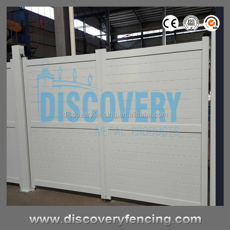 double open aluminum driveway retractable gate