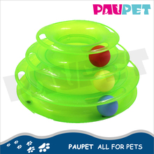 Different colors eco friendly cat tower ball interactive playing products training pet cat toys