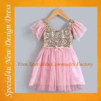 Sequin summer children frocks designs fancy children frocks designs 2016 new style children girl dress SA-910