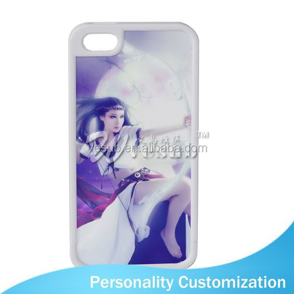 For Iphone 5 Sublimation Blank Phone Case 2D fashion for iphone 6 leather case ailun der