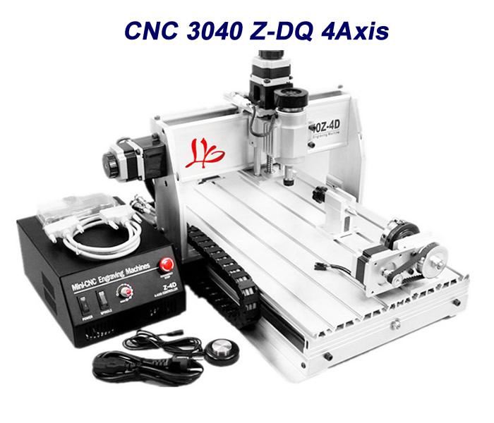 4axis router cnc 3040Z DQ with more precise ball screw