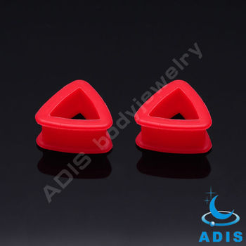 Triangle new ear plugs ear stretcher piercing tunnel custom silicone jewelry