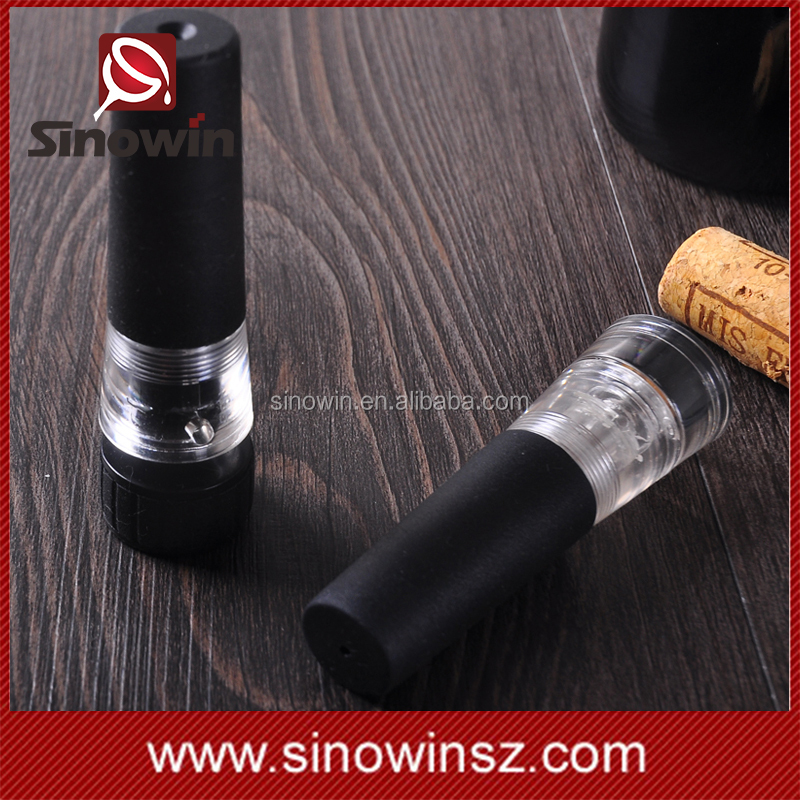 Fashion Plastic Vacuum Pump Wine Bottle Stopper Cork for Wine Freshening and Storage
