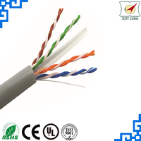 305m per roll network cable 23awg utp cat6 computer cable