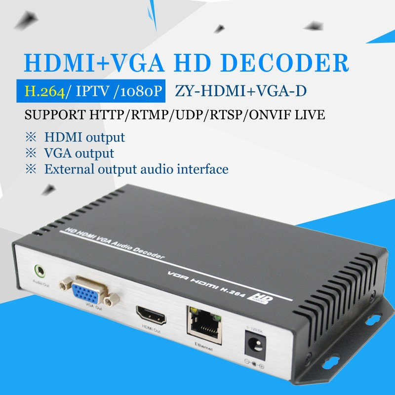 Support image parameter settings Hdmi+vga Decoder
