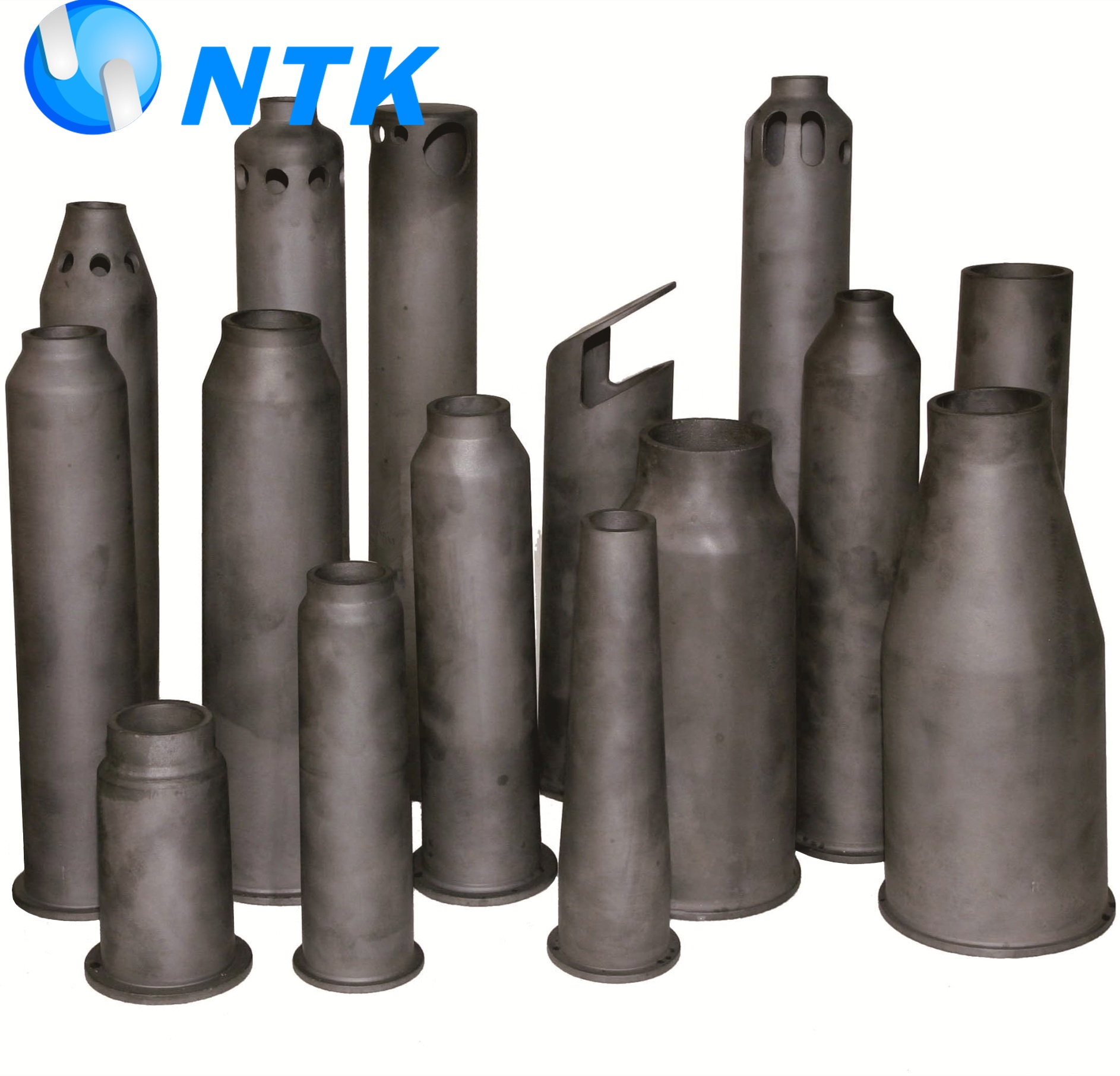 High temperature refractory pipe sic burner <strong>nozzle</strong> ceramic <strong>nozzle</strong> as flame contact device
