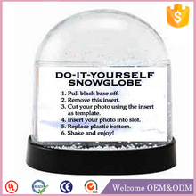 Beautiful best Gifts souvenir plastic snow globe kit