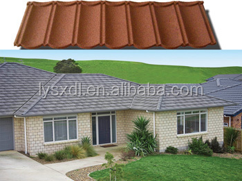 Color stone Coated Roofing Tile, Metal Roof Tile, Building Material for Roof Tile Steel Roofing Tile asphalt shingles