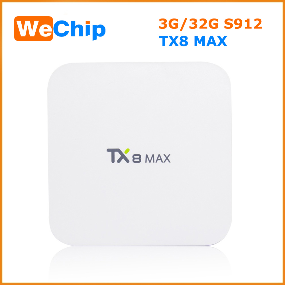 Set top android tv box s912 octa core tx8 Max HD TV 4K smart media player
