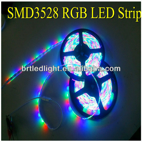 ip66 silicone sleeve waterproof dc12v flexible 3528 rgb led strip lights