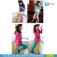Fashion Design Soft Velvet Assorted Colors Pantihose for kids