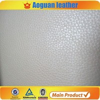 low price classic lichee pattern simulation pvc leather for sofa D666