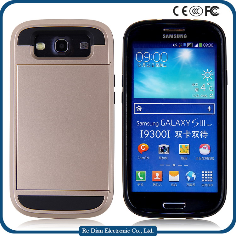 New arrival tpu pc Hard Plastic Mobile phone case for samsung galaxy s3