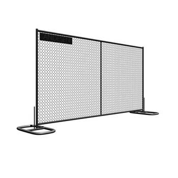 PVC coated temporary chain link removable fence panels stand