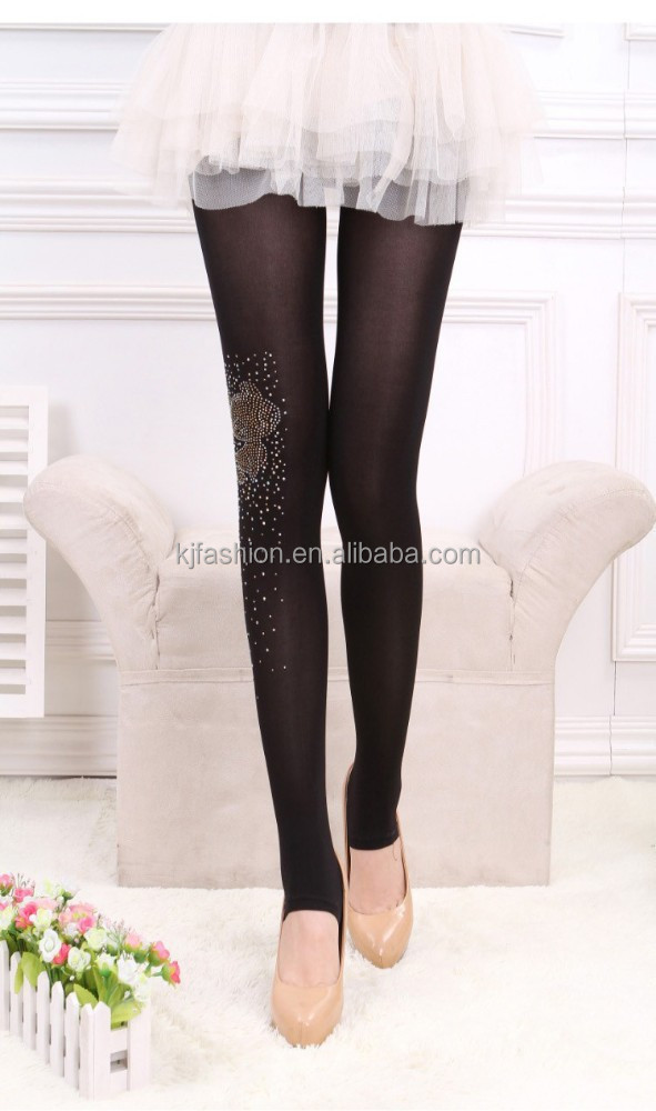 Bodystockings diamante swan fishstar snowflake butterfly fox leaf and high heel shoes pattern lady sexy nylon tights
