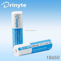 Rechargeable 3000mAh 3.7V 18650 Lithium ion Battery