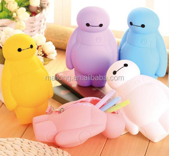 cartoon silicone pencil case Large capacity to receive pen boxes Hand bag pen bag key pn3496