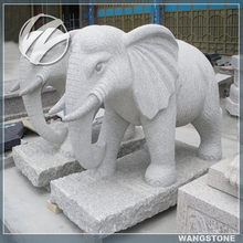 Life size art decoration granite outdoor elephant statue