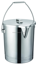 Stainless steel storage buckets