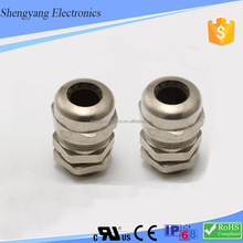 chinese supplier signal hole wire protection types of waterproof nickel plated brass cable gland m48