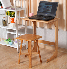 Move Bamboo Small Bedside Table Wooden Shelf Laptop Desk