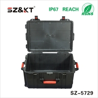 Carrying Plastic Equipment Tool Case with wheels and handle