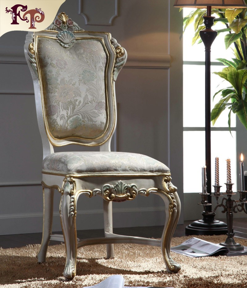 Antique classic furniture chair french reproduction dining room furniture french baroque furniture chair