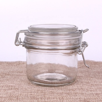Hot selling high-grade 4 oz clear wide mouth transparent 120ml glass storage jar