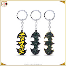 Popular Batman Promotional Metal Keychain Bulk Custom As Souvenir