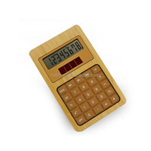 2014 Hairong bamboo desktop 8 digital solar calculator