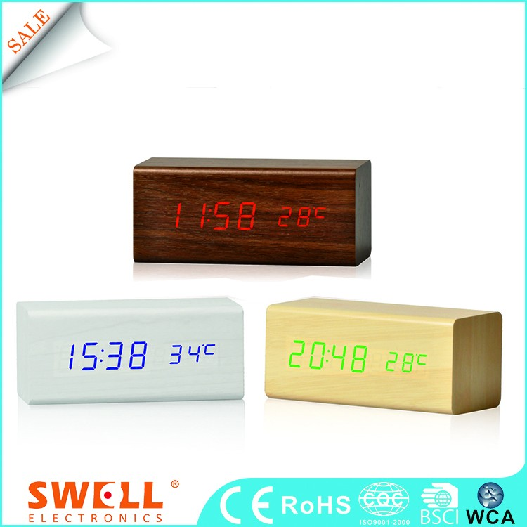 hot sale new design handmade wood clock , wood desktop clock