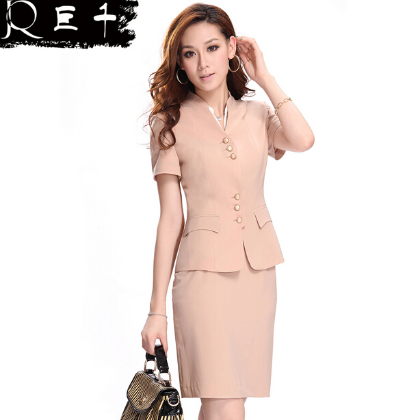 custom nice design elegant bespoke female skirt suit,bespoke lady office uniform in guangzhou