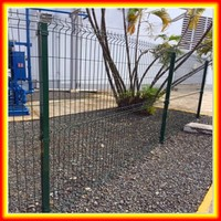 steel mesh fence / triangle bending fence / 3D curved welded wire mesh panel fence