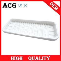 Disposable large shallow plastic tray for cooking