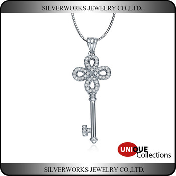 Wholesale Magic Key 925 Sterling Silver Pendant